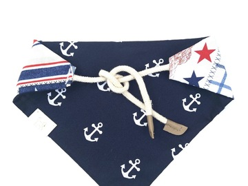 Selling with online payment: Nautical Reversible Dog Bandanna