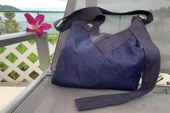 : Reversible bag Yvonne & Annette, in the mood for blue