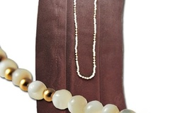 Buy Now: 25 pcs--Mother Of Pearl neck w/14kt gf beads $3.99 each!
