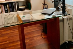 Selling without online payment: For Sale:Cherry Wood Home Office Desk with Matching File Cabinet
