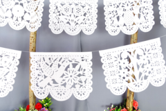 Selling with online payment: White Papel Picado for Parties, Weddings
