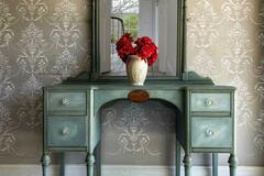 Selling with online payment: Upcycled Vintage Make Up Table Mirror Vanity