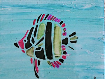Selling with online payment: Hand Painted Ceramic Tile Trivet