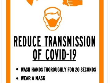Sell your product: Reduce Transmission - Covid-19  Sign