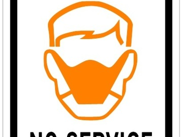 Sell your product: No Mask No Service - Covid-19 Sign