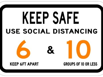 Sell your product: Keep Safe - Covid-19 Sign