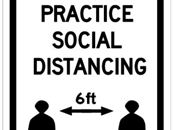 Sell your product: Social Distancing - Covid 19 Sign