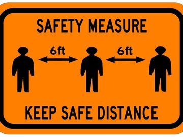 Sell your product: Safety Measures - Covid-19 Sign
