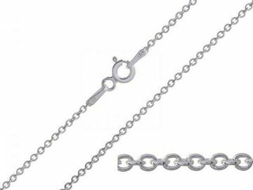 Buy Now: 72 Pcs Fine Cable Chains Rhodium Plated in USA -16 INCH
