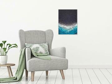"""Selling with online payment: Abstract Ocean Painting - """"Bioluminescent"""""""