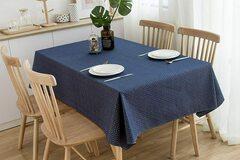 Liquidation/Wholesale Lot: NorthShore Linen Cotton Blue Table Cloth (52″ X 70″)