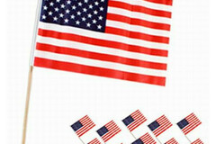 Buy Now: 100 packs of 10- 8″ X 12″ Polyester American Flag-1000 Flags