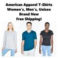 Buy Now: American Apparel T-Shirts, Men's & Women's, New, Free Shipping!