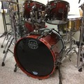 Selling with online payment: Mapex Saturn V Cherry Mist Maple Burl w/ falcon hw pkg.