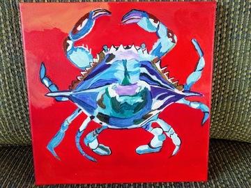 Selling with online payment: Blue Crab Painting