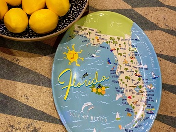Selling with online payment: Florida Melamine PLatter
