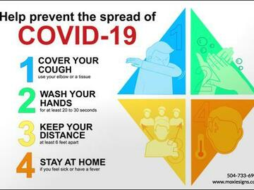 Products for Sale: Safety Signage - Prevent the Spread of COVID-19