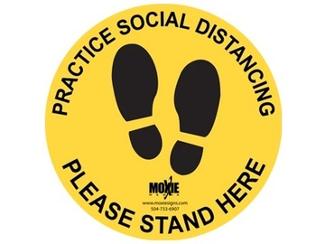 Products for Sale: Safety Signage - 12'' Circular Social Distancing Floor Decals