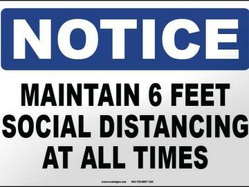 Products for Sale: OSHA Safety Signage - Notice: Social Distancing At All Times