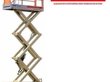 En alquiler: Alquiler Plataforma Tijera de elevacion 8 mts