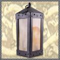 Verkaufen mit Widerrufsrecht (Gewerblicher Anbieter): Quadratische Mittelalter-Laterne mit Hornfenstern