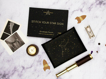 : Stitch Your Star Sign Envelope Pouch