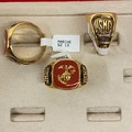 Buy Now: 12 pcs- Marine's Enamel Rings--Men's-- $8.25 each!  USA Made!