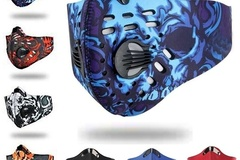 Buy Now: Cycling Face M/ask Breathable Cycling Reusable Black Ships USA