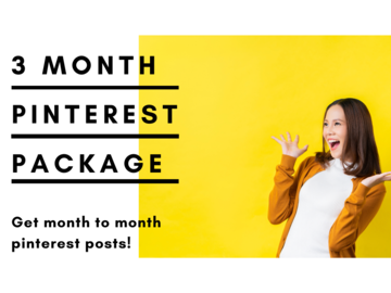 Offering online services: 3 Month Ultimate Pinterest Pack