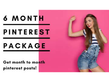 Offering online services: 6 Month Ultimate Pinterest Pack