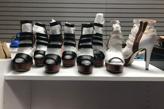 Liquidation/Wholesale Lot: Lot of 50 ladies high heel sandals and shoes. Mixed sizes
