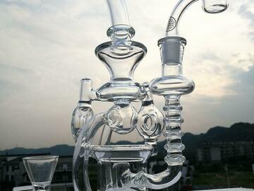 Post Now: Recycler Glass Bongs oil rig sidecar perc water pipe