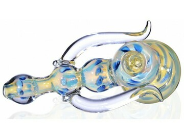 "Post Products: 6"" HOOK STYLE HAMMER BUBBLER - EXTRA HEAVY FUMED"