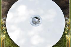 Verkaufen mit Widerrufsrecht (Gewerblicher Anbieter): Blank unpainted Viking Round Shield made of wood, w/ steel boss