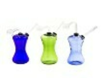 """Post Products: 100GR. 6"""" COLORED BASE GLASS OIL BUBBLER"""