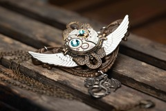 Selling with online payment: Handcrafted Steampunk Necklace