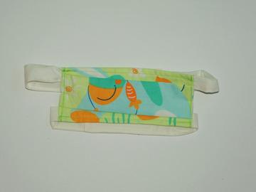 Vente au détail:  Masque barrière âne avec collier de carottes T3-12ans