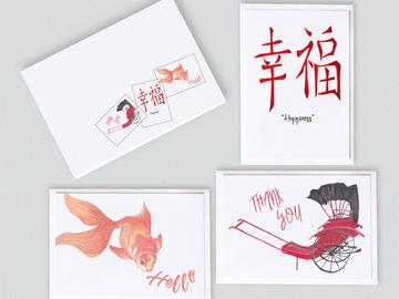 : Hong Kong memories note card gift set