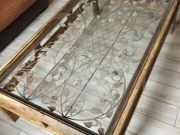Vente: table basse bois métal et verre