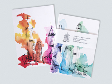 : Hong Kong skyline notebook