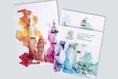 : Hong Kong skyline notebook