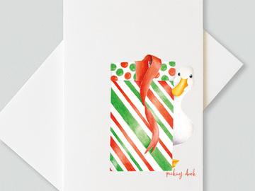 : Peeking duck greetings cards (pack of 6 cards)