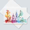 : Hong Kong skyline greetings cards (pack of 6 cards)