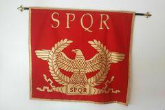 Vendre: SPQR signifie : senatus populusque romanus romain.