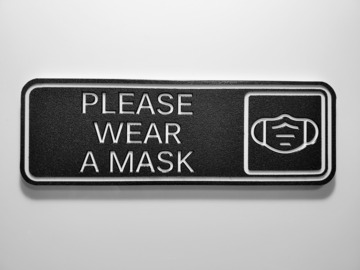 Sell your product: Please Wear A Mask Sign