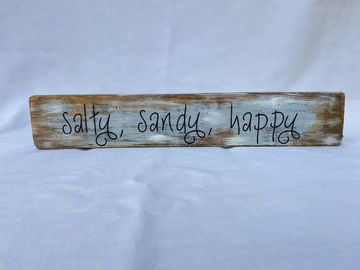 Selling with online payment: Salty, Sandy, Happy Sign