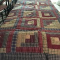 Selling with online payment: Handmade Log Cabin Quilt
