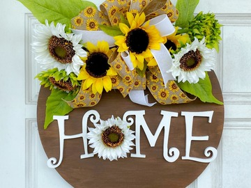 Selling with online payment: Sunflower Door Hanger
