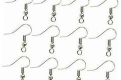 Buy Now: 1,000 pcs Rhodium Plated Surgical Steel ball coil earring hooks