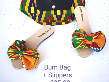 For Sale: Ladies Slippers + Matching bum bag